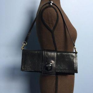 Kooba Snake Embossed Leather Shoulder Bag